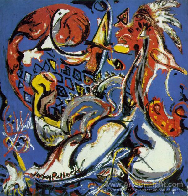Blue (Moby Dick) by Jackson Pollock