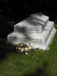 The gravestone of Hardy's heart
