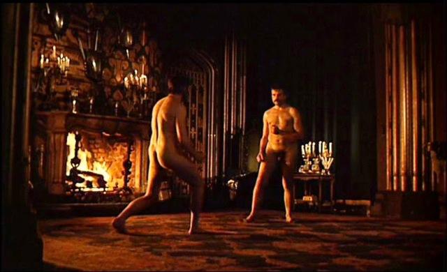 Birkin (Alan Bates) and Gerald (Oliver Reed)