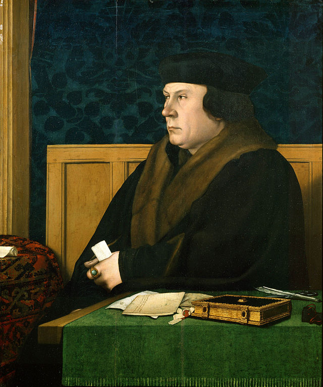 Thomas Cromwell (with Luca Pacioli's Summa) by Hans Holbein