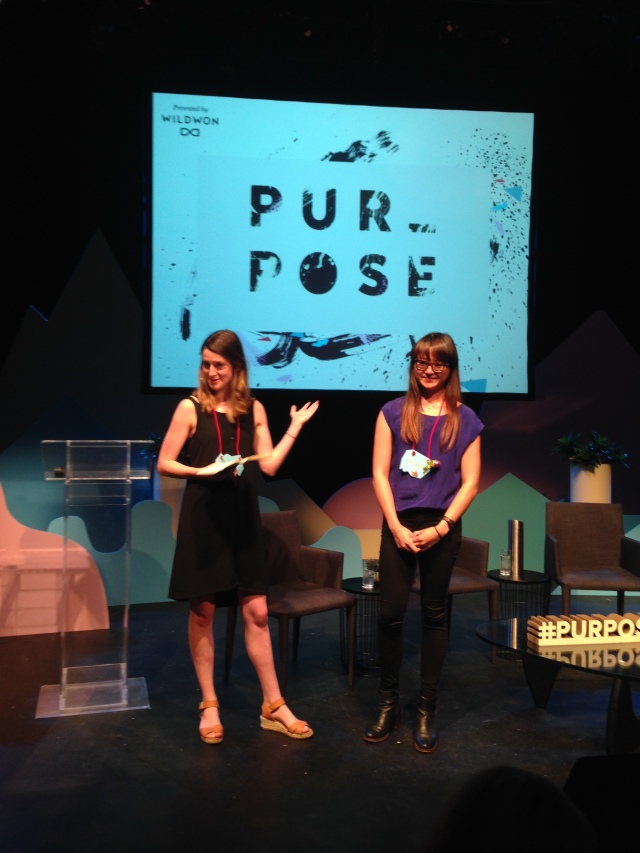 Sally Hill & Yvonne Lee from Wildwon, creators of Purpose 2015
