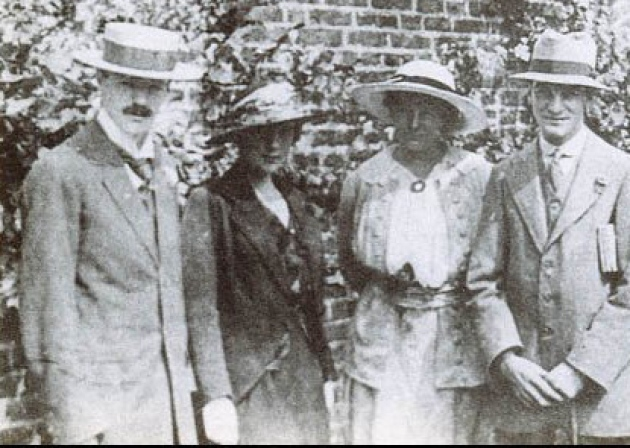 D.H. Lawrence, Mansfield, Frieda Lawrence and Middleton Murry