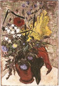 Wild Flowers and Thistles in a Vase, Vincent Van Gogh