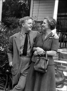 Truman Capote in Monroeville with his mother's cousin Mary Ida Faulk Carter, 1963